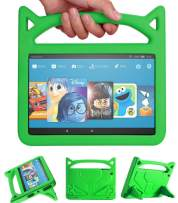 F ire H D 10 Case-Angiuing Child Protection Lightweight Case with Handle and Bracket for Tablet Shockproof H D⒈0 Case (5th / 7th Generation,Released in 2015/2017) (Green)