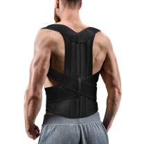 """Back Posture Corrector for Women and Men, Back Braces for Upper and Lower Back Pain Relief, Adjustable and Fully Back Support improve Back Posture and provide Lumbar Support (XXL, 45.5""""-49"""" Waist)"""