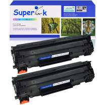 SuperInk 2 Pack Compatible Replacement for Canon 126 CRG126 3483B001AA Toner Cartridge use in ImageClass LBP6200d LBP6230dw Printer