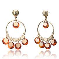 Bohemian Resin Statement Earrings Punk Acrylic Handmade Drop Dangle Earrings Geometry Flower Earrings