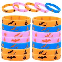 Time-killer Halloween Party Favors Rubber Bracelet,25pcs Silicone Wristbands Glow in The Dark,Party Supplies Ideal for Kids Adults Wrist Decoration