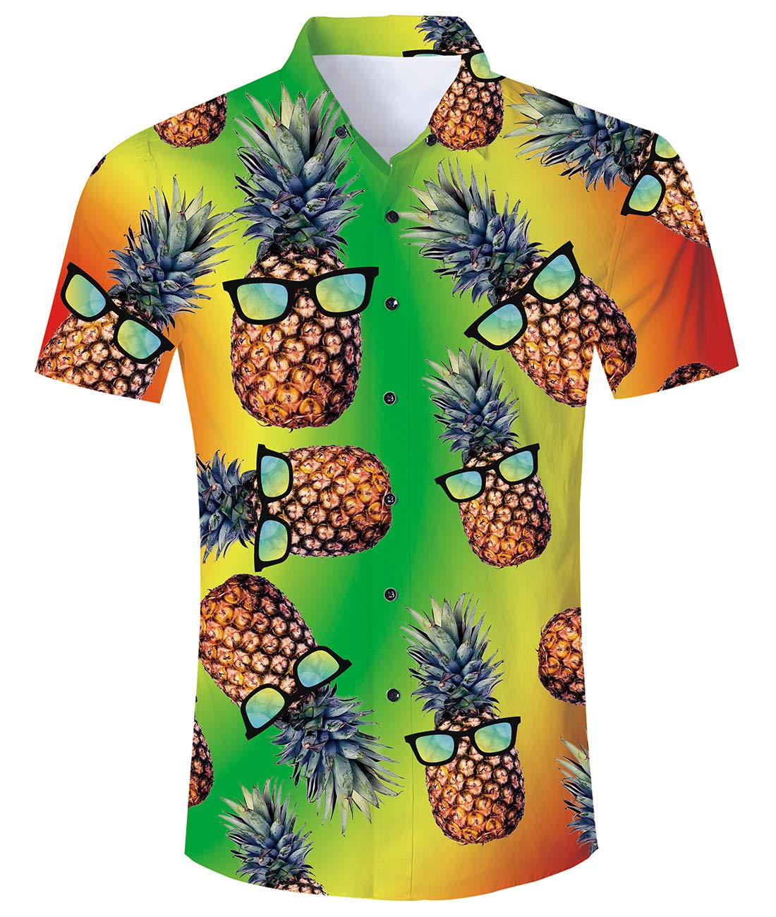 Goodstoworld 2020 Men's Button Down Shortsleeve Unique Hawaiian Shirts