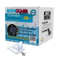 50 QTY Commercial Bulk Pack (Snow Guards, Perfect Seal Gaskets & Screws) - Stop Snow From Sliding Off Your Metal Roof Snow Guard Block Stops Breaks