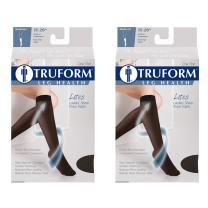 Truform Compression 15-20 mmHg Sheer Knee High Stockings Open Toe, Nude, Small, 2 Count
