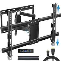 BLUE STONE Full Motion TV Wall Mount Bracket with Height Setting for Most 32-83 inch up to 100lbs with VESA 600x400mm,Dual Swivel Articulating Arms Tilt Rotation for Flat Screen, LED,LCD,4K,Curved TVs