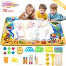 TAEERY Aqua Drawing Doodle Mat  40 x 28 inch Extra Large Water Drawing Color Doodle Magic Mat Educational Toys for Girls Boys Toddlers Age 3 4 5 6 7 8 9