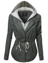 Awesome21 Women's Causal Boyfriend Over-Sized Utility Anorak Jacket