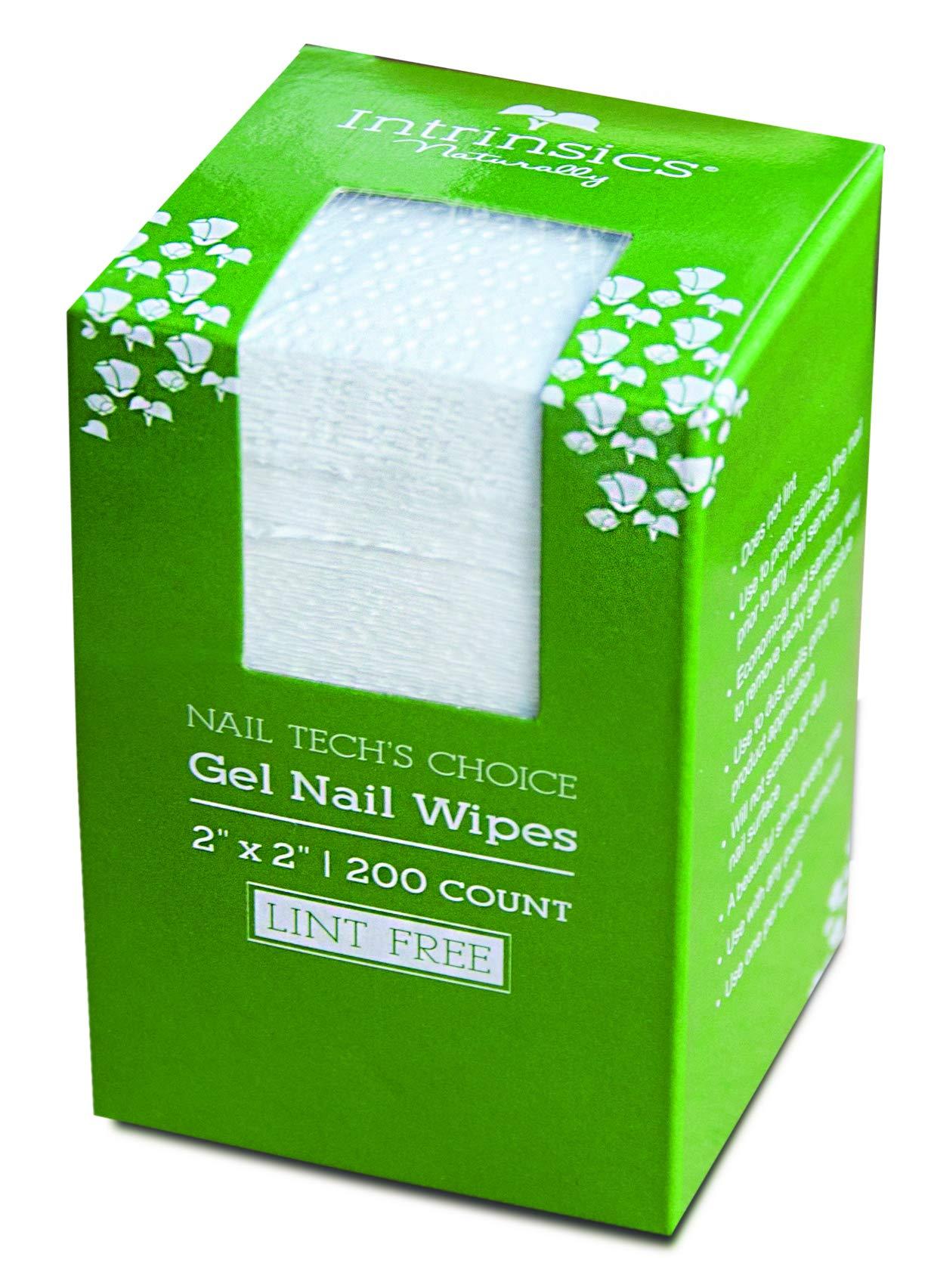 Intrinsics Nail Tech's Choice Lint Free Gel Nail Wipes - 2 x 2, 200 Count