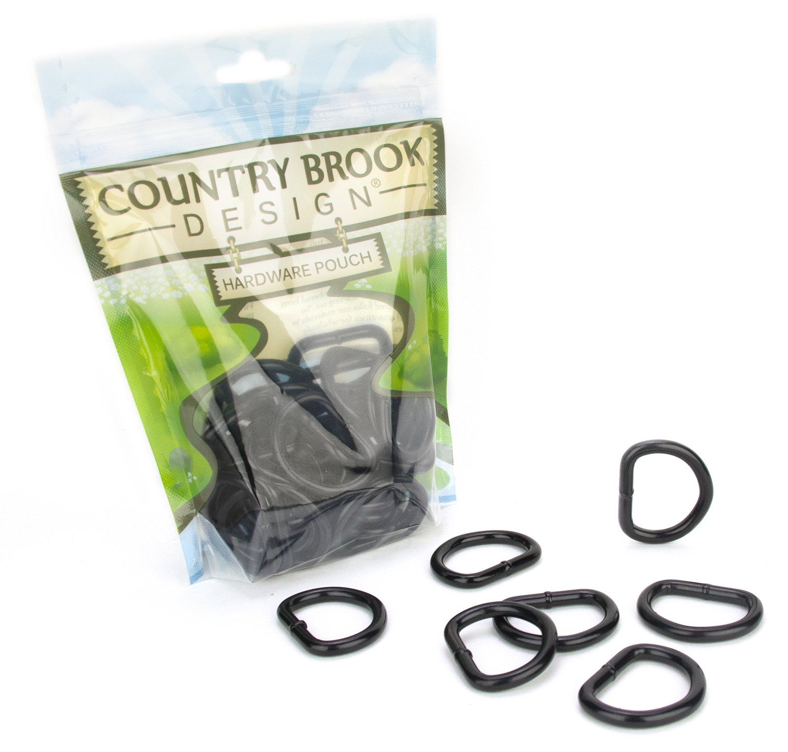 Country Brook Design - 1 Inch Steel Welded Powder Coated D-Rings (50 Pack)