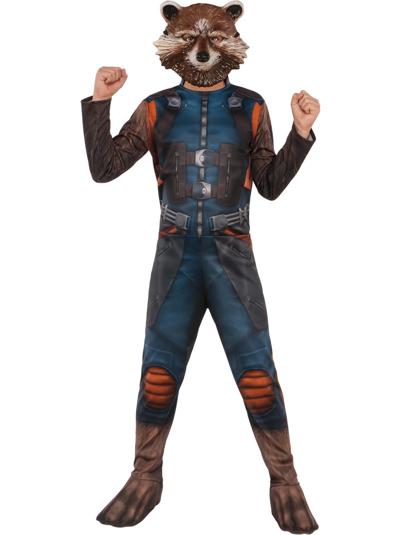 Marvel Guardians Of the Galaxy Rocket Raccon Boys T-Shirt Black Licensed