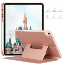 ZtotopCase for iPad Pro 12.9 Inch 2018(3rd Gen), Soft TPU Back Cover and Strong Magnetic Stand Folio Case [Support 2nd Gen Pencil Charging] with Auto Wake/Sleep and Multiple Viewing Angles,Rose Gold
