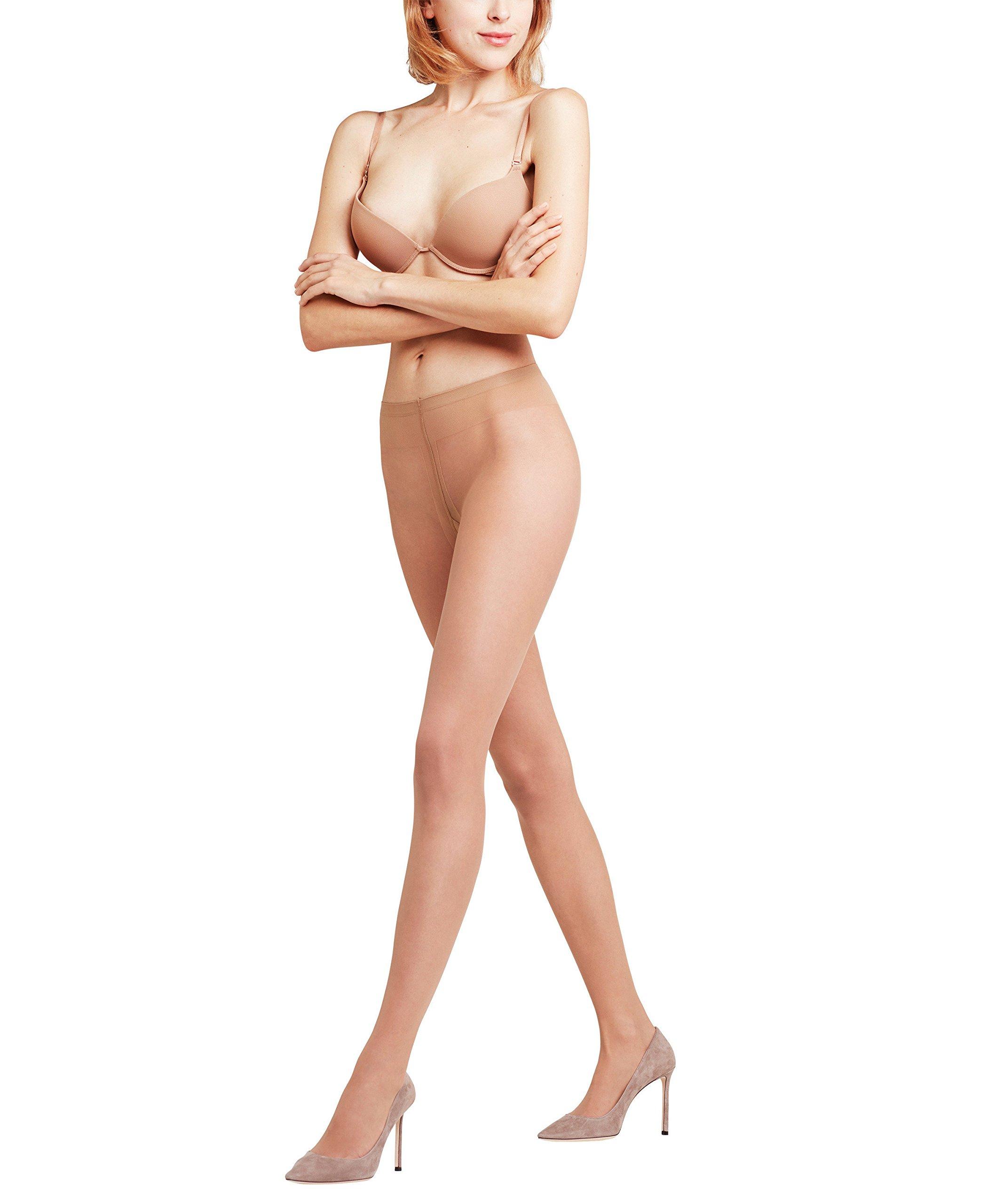 FALKE Women Fond de poudre 10 DEN Tights - Ultra-Sheer, Sizes S to XL, 1 Pair - Elegant, ideal for open shoes