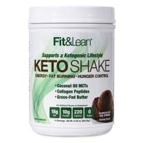 Fit & Lean Keto Shake Ketogenic Meal Replacement Powder, Chocolate