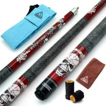 CUESOUL 57 inch 19/20/21 oz 1/2 Maple Pool Cue Stick Kit-Rockin Series