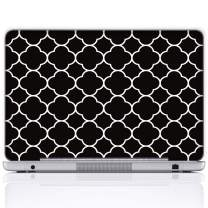 Meffort Inc 17 17.3 Inch Laptop Notebook Skin Sticker Cover Art Decal (Included 2 Wrist pad) - Quatrefoil