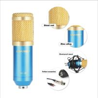 Aokeo AK-80 Professional Studio Recording Condenser Microphone Plug and Play Mic, Cardioid Pickup, Compatible Phone, Computer, Laptop,YouTube, Podcasting,Twitch, Skype,MSN,Gaming,Singing (AK-80 Blue)
