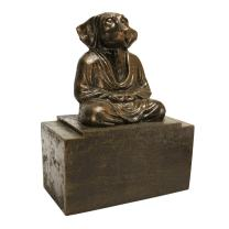 Design Toscano SP7401  Spirit of Zen Meditating Dog Bookend,bronze