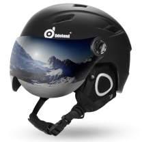 Odoland Ski Helmet with Ski Goggles, Light Weight Snowboard Helmet and Detachable Goggles Set, Snow Sport Helmets for Men Women