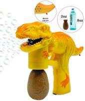 Bubble Gun Machine for Toddlers Dinosaur Bubbles Gun with 8 oz Bubbles Orange