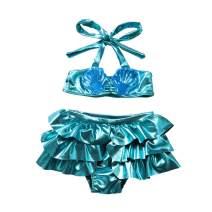 Baby Girl Bikini, Toddler Meimaid Swimsuit Two Piece Halter Swimwear Bathing Suit