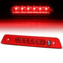 Red Housing LED 3rd Third Tail Brake Light Lamp Replacement for Jeep Grand Cherokee WK 05-10