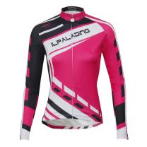 ILPALADINO Women's Cycling Jersey Long Sleeve Biking Shirt Quick Dry Breathable