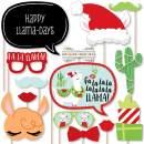 Big Dot of Happiness Fa La Llama - Christmas and Holiday Party Photo Booth Props Kit - 20 Count