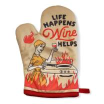 Crazy Dog T-Shirts Life Happens Wine Helps Funny Cooking Drinking Wine Lover Kitchen Accessories (Oven Mitt)