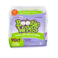 Baby Wipes by Boogie Wipes, Wet Wipes for Face, Hand, Body & Nose, Made with Vitamin E, Aloe, Chamomile and Natural Saline, Natural Lavender Scent, 90 Count