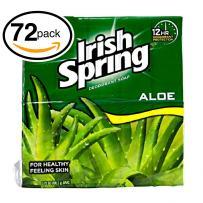 Irish Spring Bar Soap (72 Bars, 3.75oz Each Bar, Aloe)