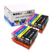 EBY Compatible Ink Cartridge Replacement for Canon PGI-250XL 250 XL CLI-251XL CLI 251 XL PIXMA iP8720 MG6320 MG7120 MG7520 (2 Large Black, 2 Cyan, 2 Magenta, 2 Yellow, 2 Small Black, 10-Pack)