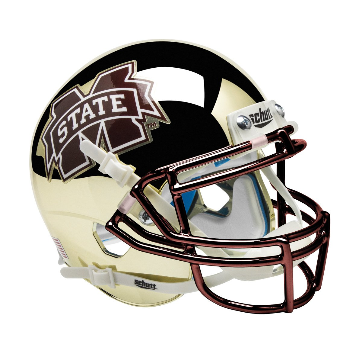 Schutt NCAA Mississippi State Bulldogs On-Field Authentic XP Football Helmet