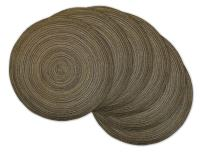 DII CAMZ35063 Varigated Round Placemat Set of 6, Brown 6 Count