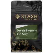 Stash Tea Double Bergamot Earl Grey Premium Loose Leaf Black Tea, 3.5 Ounces