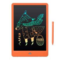 """10"""" LCD Writing Tablet LWT92 Kids ABC Writing Drawing Pad Educational Toys for 2 3 4 5 6 7 8 9 10 11 12 Years Old Boy Girls Gift Play in Car at Home School - Rainbow Orange"""