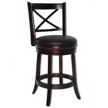 Boraam Georgia Counter Height Swivel Stool, 24-Inch, Cappuccino