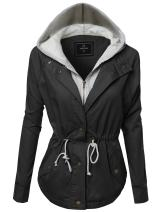 Awesome21 Women's Causal Boyfriend Over-Sized Utility Anorak Jacket