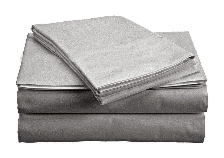 The Green Farmer 100% Organic Cotton Sheet Sets Full Size GOTS Certified Organic Cotton Sheets,400 TC, Moon Light Silver Sheet Set
