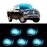 cciyu 5x Cab Marker Running Light Smoke Lens+5x168 Ice Blue 5050 LED Lights For 1988-2000 Chevrolet C2500 C3500 K1500 K2500 C1500 K3500 1988-2000 GMC C1500 C2500 C3500 K1500 K2500 K3500