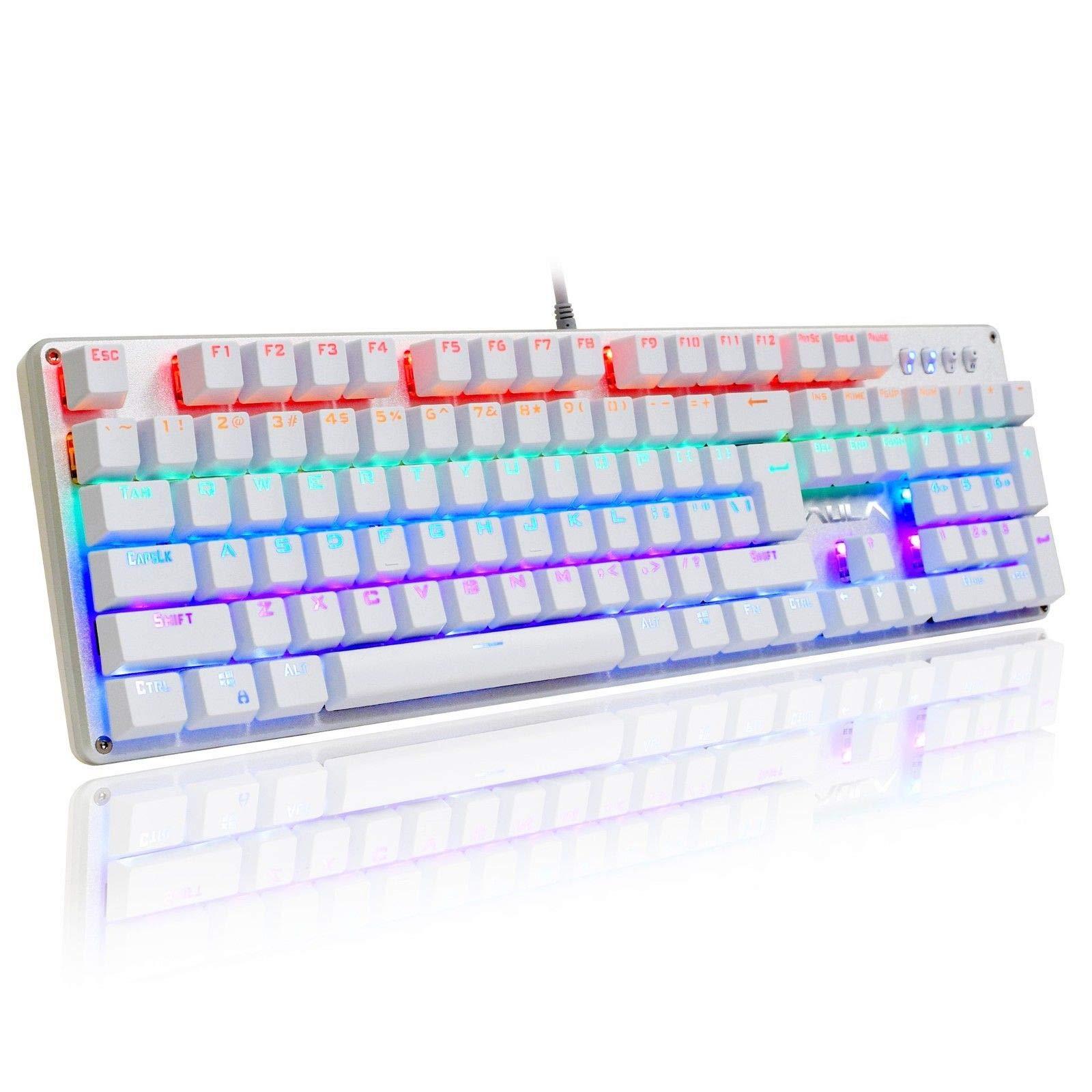 AULA Unicorn Backlit Mechanical Keyboard with Multi-color LED Illuminated Gaming Computer Keyboard, F2010