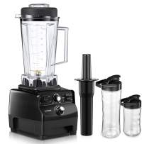 AICOOK Blender, Professional Countertop Blender 1450W, Durable High Power Blender with High Speed, Smoothie Maker 72oz Plus 2 Portable Cups for Ice Crushing, Shakes and Green Smoothie (NY-8608MA)