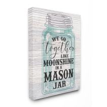 Stupell Industries Together Like Moonshine in A Mason Jar Southern Typography Canvas Wall Art, 30 x 40, Multi-Color