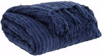 Signature Design by Ashley A1000083T Noland Throw-Traditional-Navy