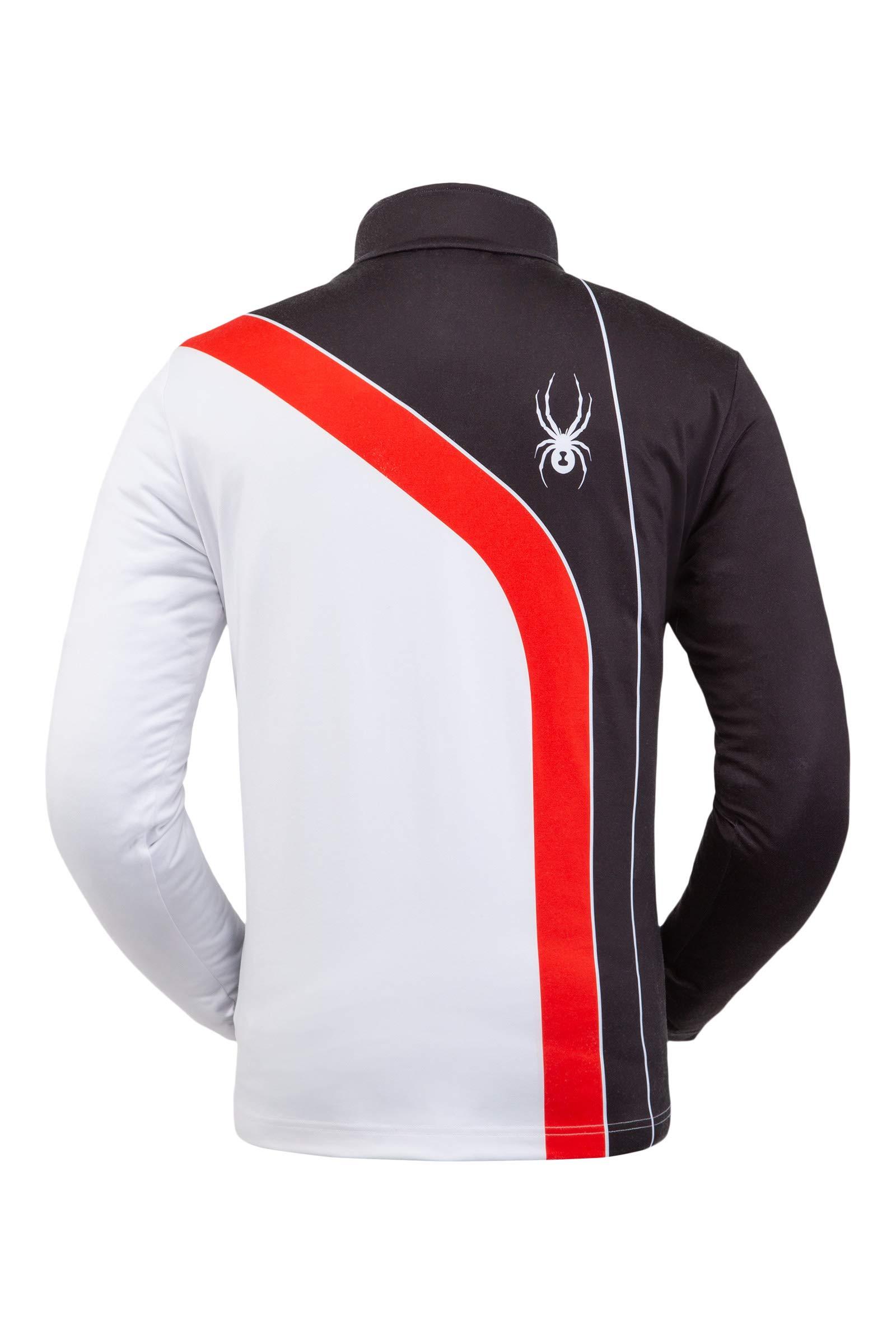 Spyder Men's Rival Zip T-Neck – Pullover Long Sleeve Active Shirt