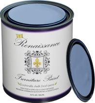 Retique It Chalk Finish Paint by Renaissance - Non Toxic, Eco-Friendly Chalk Furniture & Cabinet Paint - 32 oz (Quart), Azure Blue