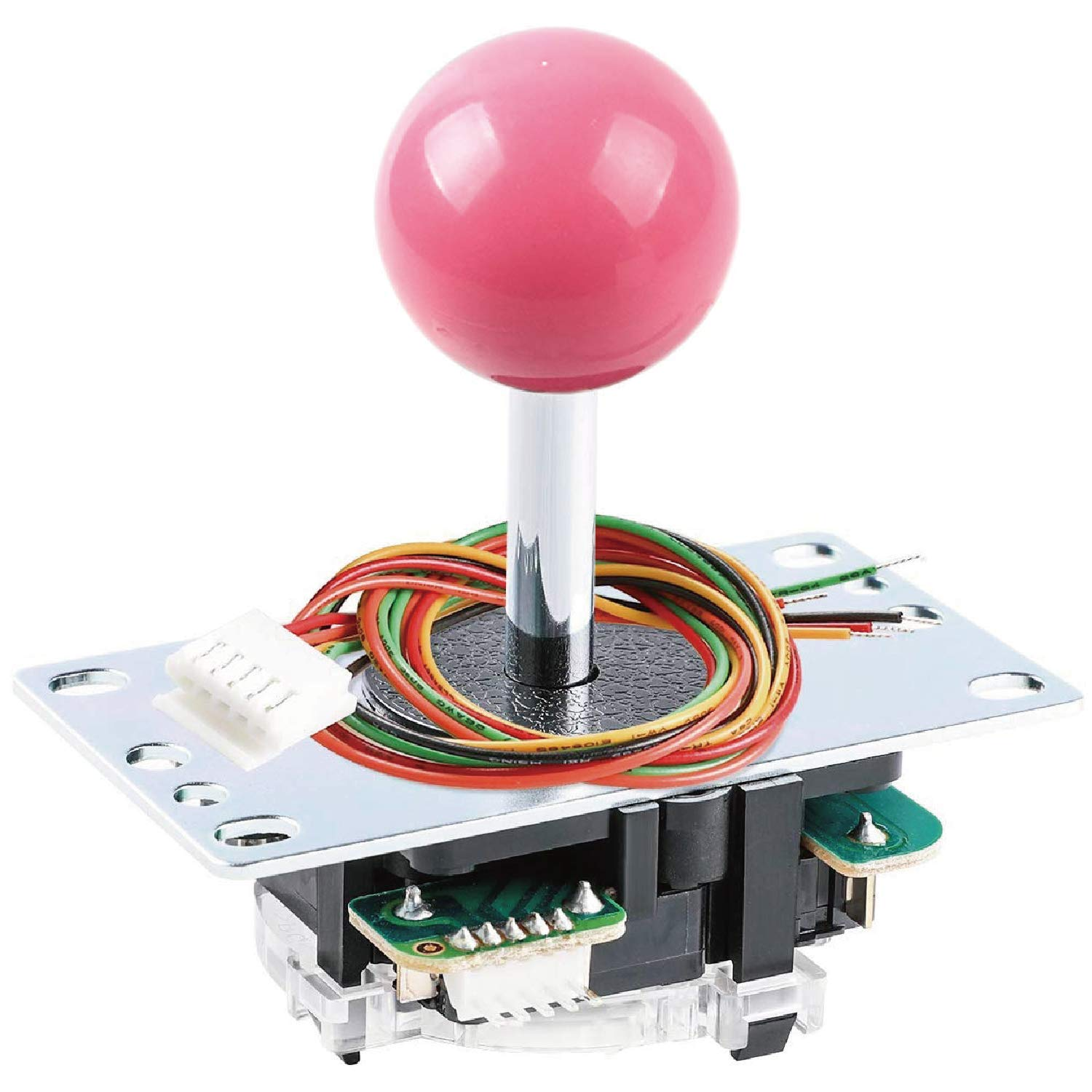 SANWA JLF-TP-8YT Joystick Pink Original - for Arcade Jamma Game 4 & 8 Way Adjustable, Compatible with Catz Mad SF4 Tournament Joystick (Pink Ball Top), Use for Arcade Game Machine Cabinet S@NWA