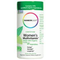 Rainbow Light Women's Multivitamin, Organic Fruits & Vegetables, Gluten-Free, Soy-Free, 120 Vegetarian Capsules (Packaging May Vary)