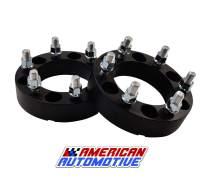 "American Automotive 2pc 1.5 inch 6 x 5.5"" Wheel Spacers (14x1.5 Studs) Fits GMC Yukon and Yukon XL (6 x 139.7mm)"