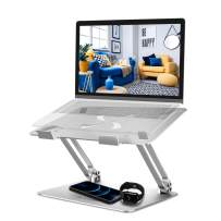 """LaptopStand Adjustable, BlitzWolfComputer Stand Foldable Laptop Riser Stand for Desk Portable Computer Holder Compatible with 11-17"""" Notebook"""
