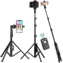"""Selfie Stick Tripod, Eocean 51"""" Extendable Selfie Stick Stand, Cellphone/Camera Tripod, Compatible with iPhone 11 Max Pro/Xr/Xs Max/X/8/8Plus/7/Galaxy Note 9/S9/Huawei/Google/Xiaomi/Android(Upgrade)"""